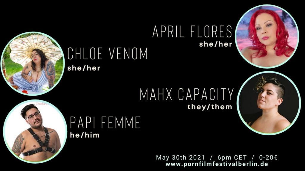 April Flores, Chloe Venom, Mahx Capacity, Papi Femme